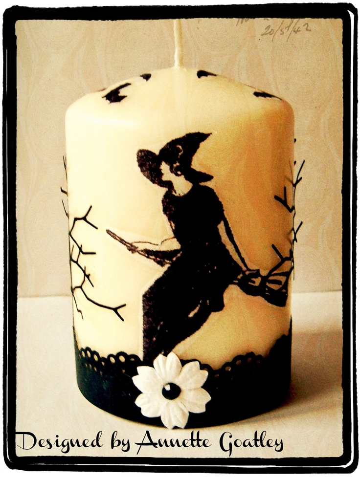 Decorated Candle for Halloween