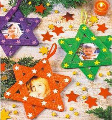 Personal Christmas star ornaments from posicle sticks // Jégkrém pálcikákból készült csillag alakú karácsonyfadíszek // Mindy - craft & DIY tutorial collection