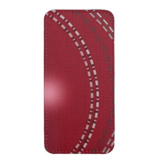 Customizable Red Cricket Phone Pouch