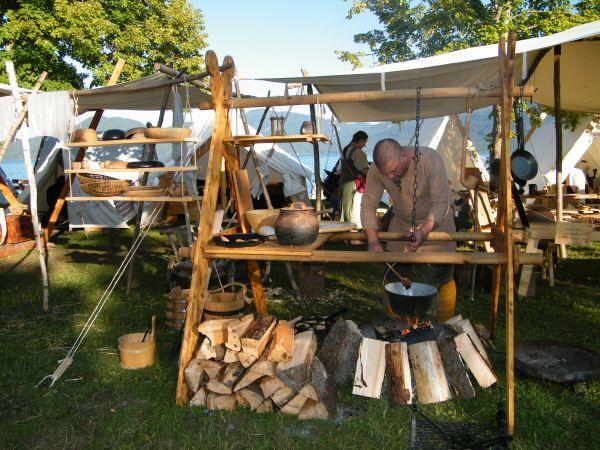 Viking encampment kitchen