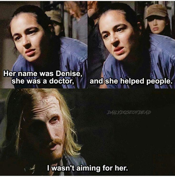The Walking Dead, Tara, Dwight, Denise / @Chelsochist