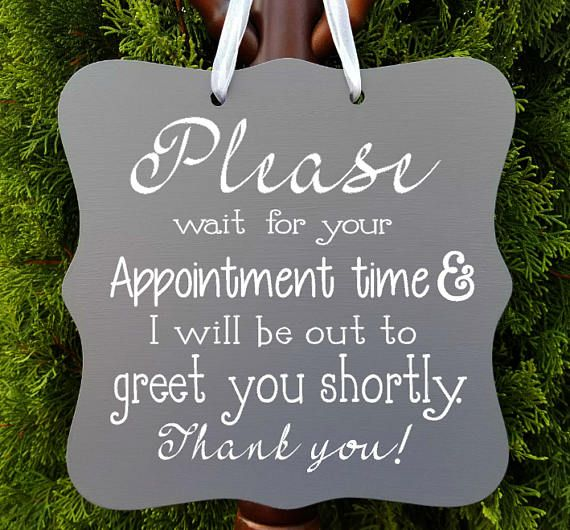 Appointment Sign Office Sign Business Sign Door Sign