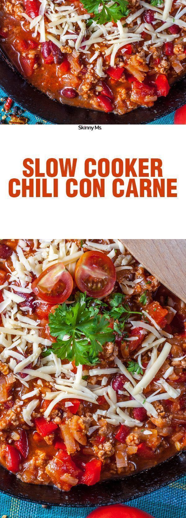 I can't believe this recipe for Slow Cooker Chili con Carne only comes in at 227 calories per serving. It smelled so good cooking in my house.