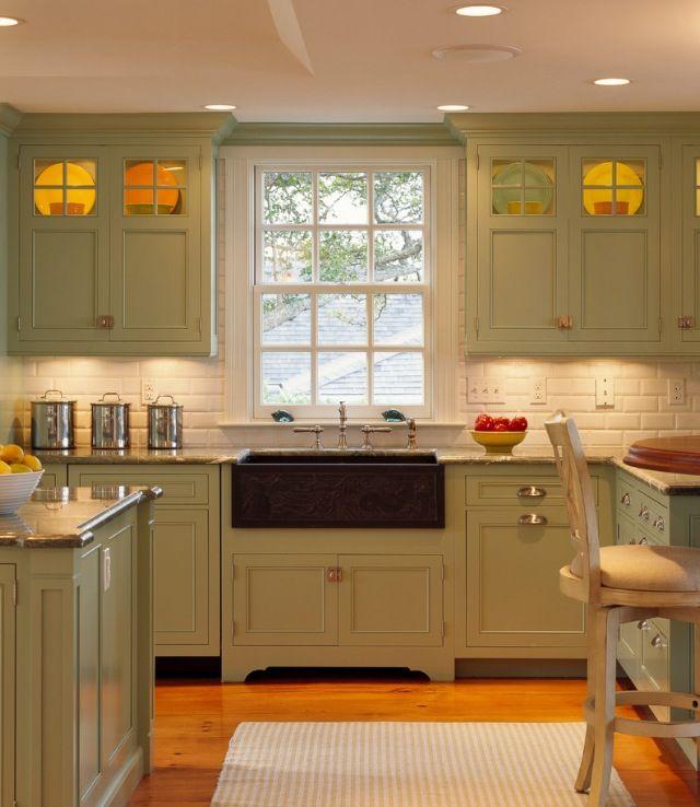Olive green kitchen pinterest green cabinets cabinets and olives - Kitchen cabinet toe kick options ...
