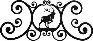 Wrought Iron Elk Over Door Plaque