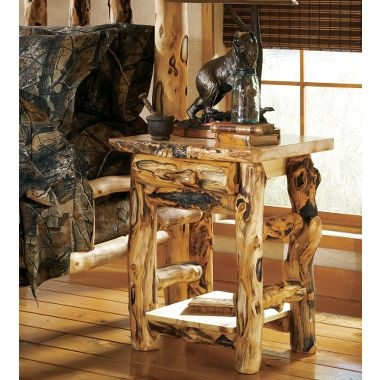 Cabelau0027s Extra Gnarly Aspen Log One Drawer One Door Nightstand, This Is  What I Want In Every Room Log Pole Furniture Even Our Dining Table