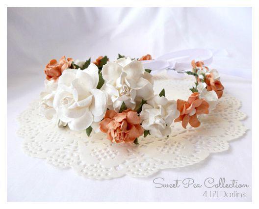 Peach Blossom Flower Crown-flower crown, floral crown, floral halo