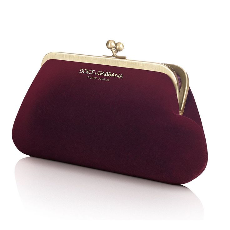 Dolce Gabbana D&G Ladies Velvet Clutch Evening Bag Purse