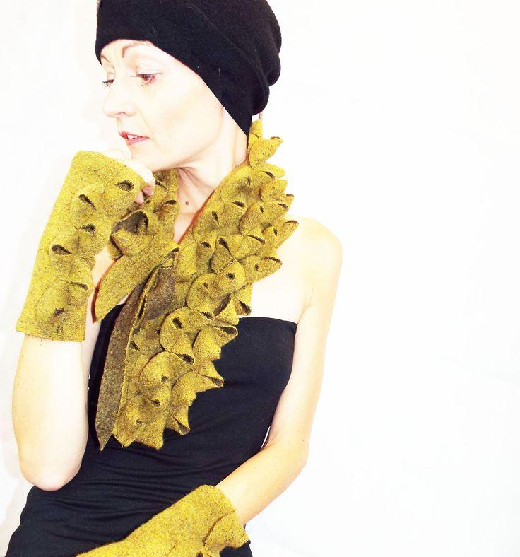 Collo e manicotti in lana cotta Ghinè Collection Accessories Eleonora Weiss