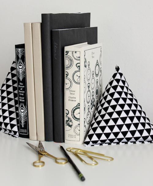 DIY Project: Fabric Pyramid Bookends