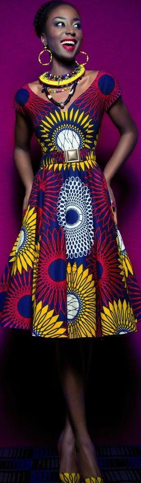 Vou mandar fazer um vestido lindo com o tecido afro....