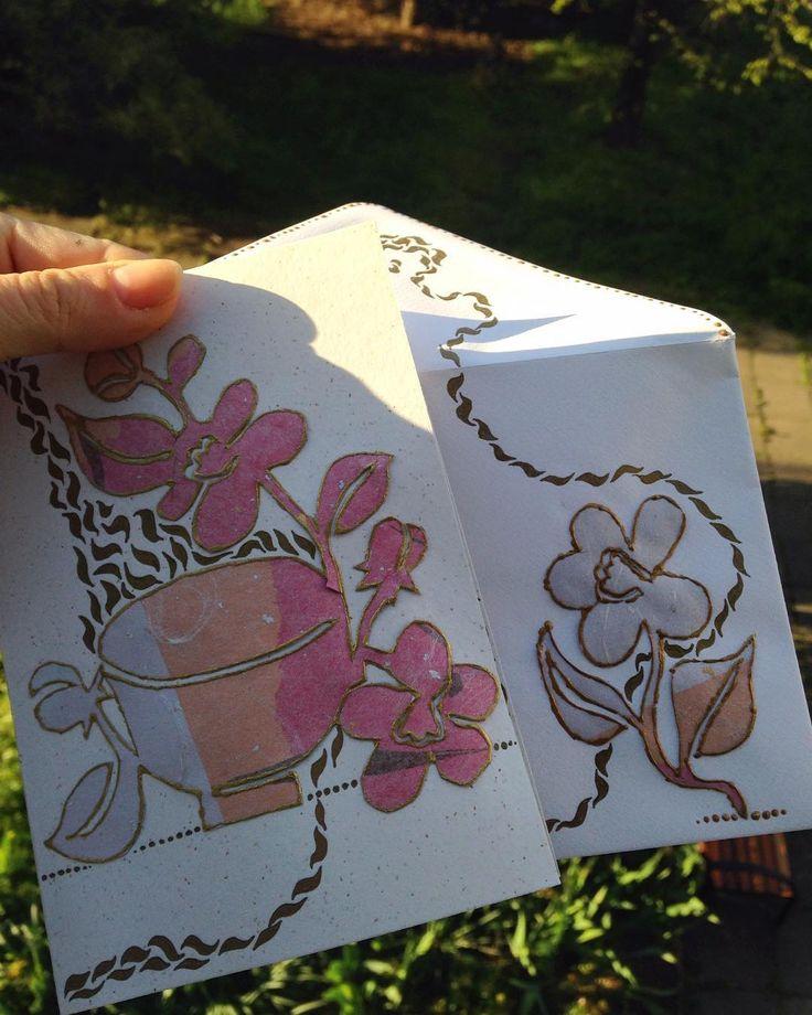 #card #handmade #teapaper #giftcard #teamotives #art Pro Marušku na rozloučenou…