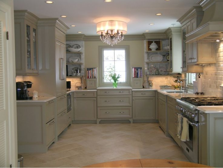 This Lovely Kitchen Has The Soft Features Of Georgian Colonial Design .