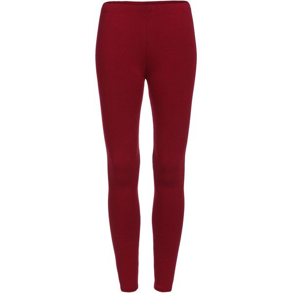 Elastic Waist Thicken Maroon Leggings (12 CAD) ❤ liked on Polyvore featuring pants, leggings, red, red leggings, stretch leggings, red trousers, stretch pants and stretch waistband pants
