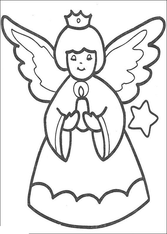 best christmas angels images on pinterest   colouring  boy    queen angel bringing candle for christmas coloring pages for kids   printable christmas angels coloring pages for kids