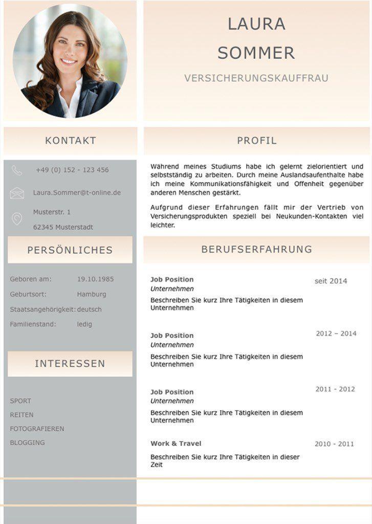 Bewerbungsvorlage Cv Golden Candidate In Deutsch Download