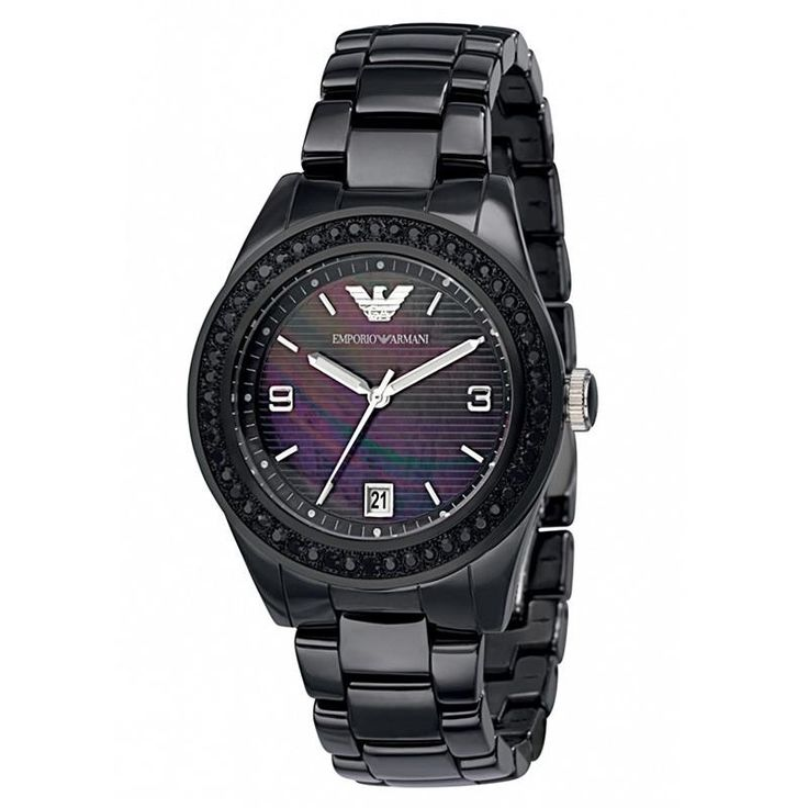 Ceramica Black Mother of Pearl Dial Ladies Watch