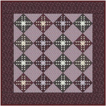 Barbara Brackman's MATERIAL CULTURE: Hoyle's Lilac: Free Pattern