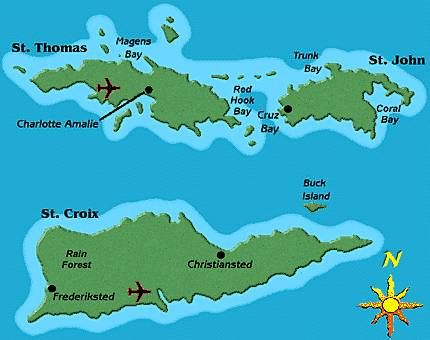 Best United States Virgin Islands Images On Pinterest - Us virgin islands google maps