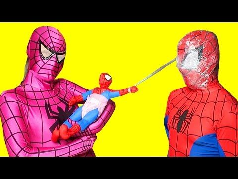 Spiderman vs Venom vs Pocahontas & Spiderkid - Pizza party in Real Life - Fun Superheroes Movie - YouTube