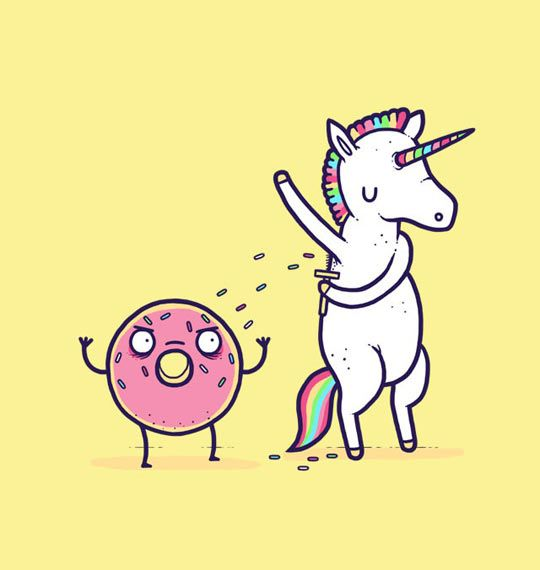 how sprinkled donuts are really made. delicious, delicious unicorn pit hair