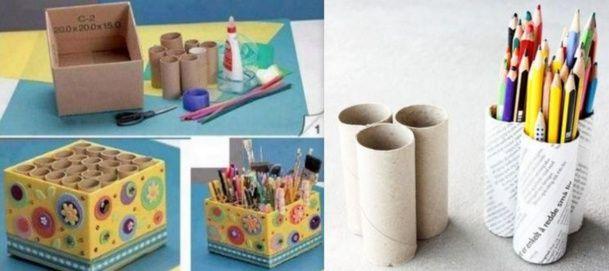 recyclez vos rouleaux de papier toilette en boite crayon crayons. Black Bedroom Furniture Sets. Home Design Ideas