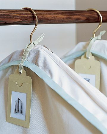 Secret to Storing Out of Season Clothing ~ Tag It : plus lots of great tips for organizing your closet from a professional designer.