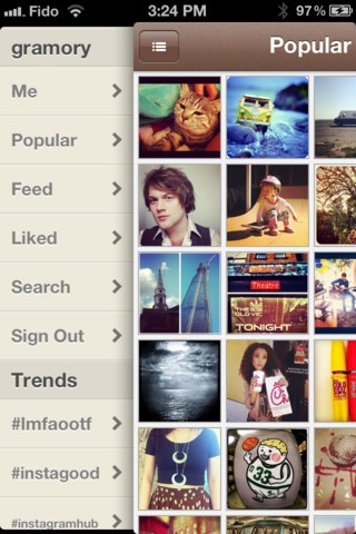 Gramory is a streamlined Instagram client. It lets you browse your Instagram images and view your followers images.