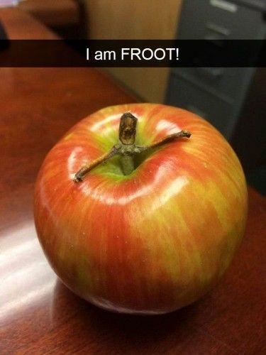 В яблоке