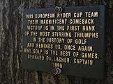 """Oak Hill GC - """"1995 European Ryder Cup Team Their Magnificent Comeback Victory Is In The First Rank Of The Most Stirring Triumphs in The History Of Golf And Reminds Us, Once Again, Why Golf Is The Best Of Games. Bernard Gallacher 1996""""."""
