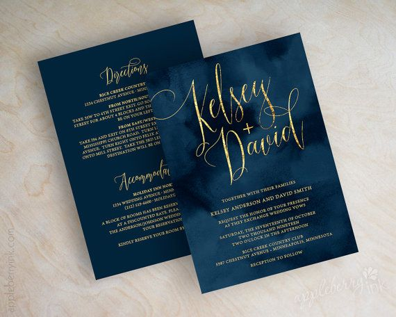 17 Best ideas about Navy Wedding Invitations on Pinterest ...