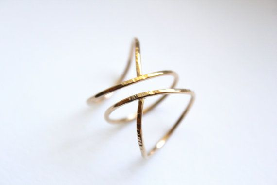 Siren- spiral ring- stacked bands- Winter Trend