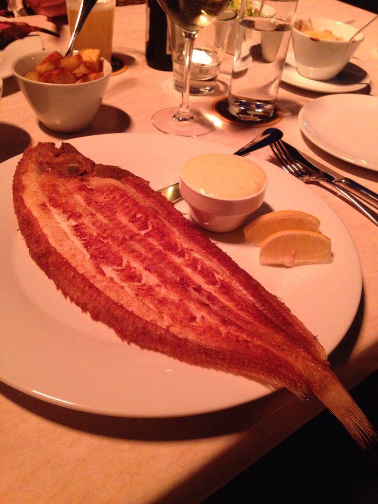 Sole on the bone with beurre blanc.  In restaurant Het Wapen van Munster in the small village De Rijp.