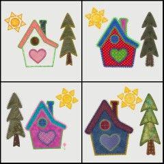 GO! Home Set #1 Embroidery Designs by V-Stitch Designs