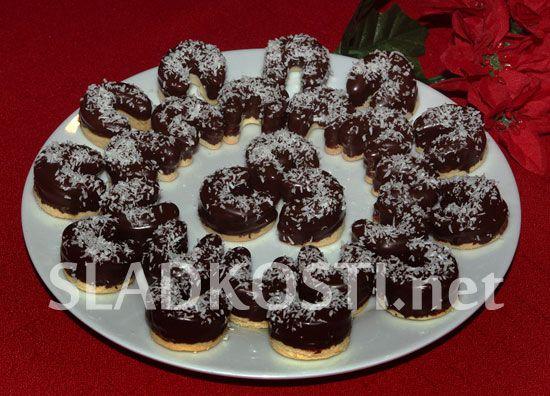Kokosové rohlíčky s marmeládou dia