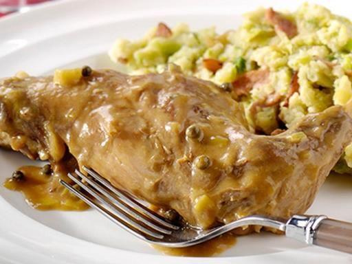 Cuisse de lapin et pot e de choux de bruxelles sauce - Lapin cuisine marmiton ...