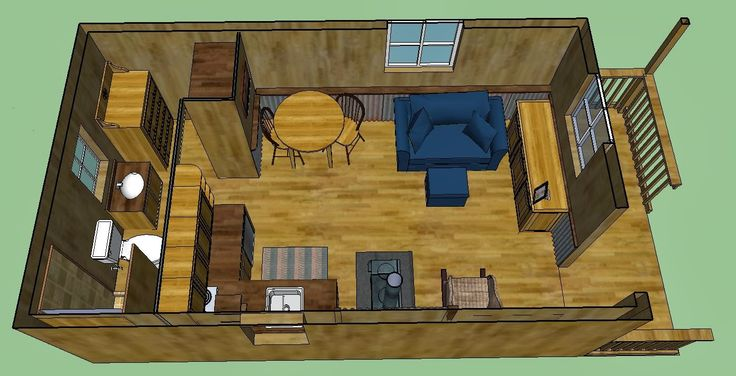 Cabin and barns on pinterest for 12x24 cabin floor plans