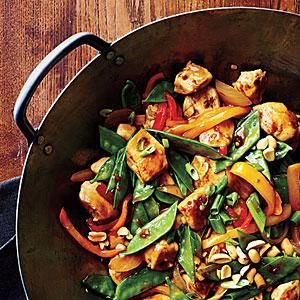 Chile paste and fresh ginger add just the right amount of heat to Szechuan Chicken Stir-Fry. Add a little zip to your weeknight dinners with this flavorful stir-fry.