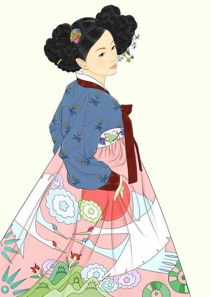 Ханбок (한복) - традиционная корейская одежда. Ханбок произошёл от одежды северносибирских кочевников. Отражая обычаи кочевых народов, ханбок был продуман удобным для передвижения и вобрал в себя множество шаманских мотивов.