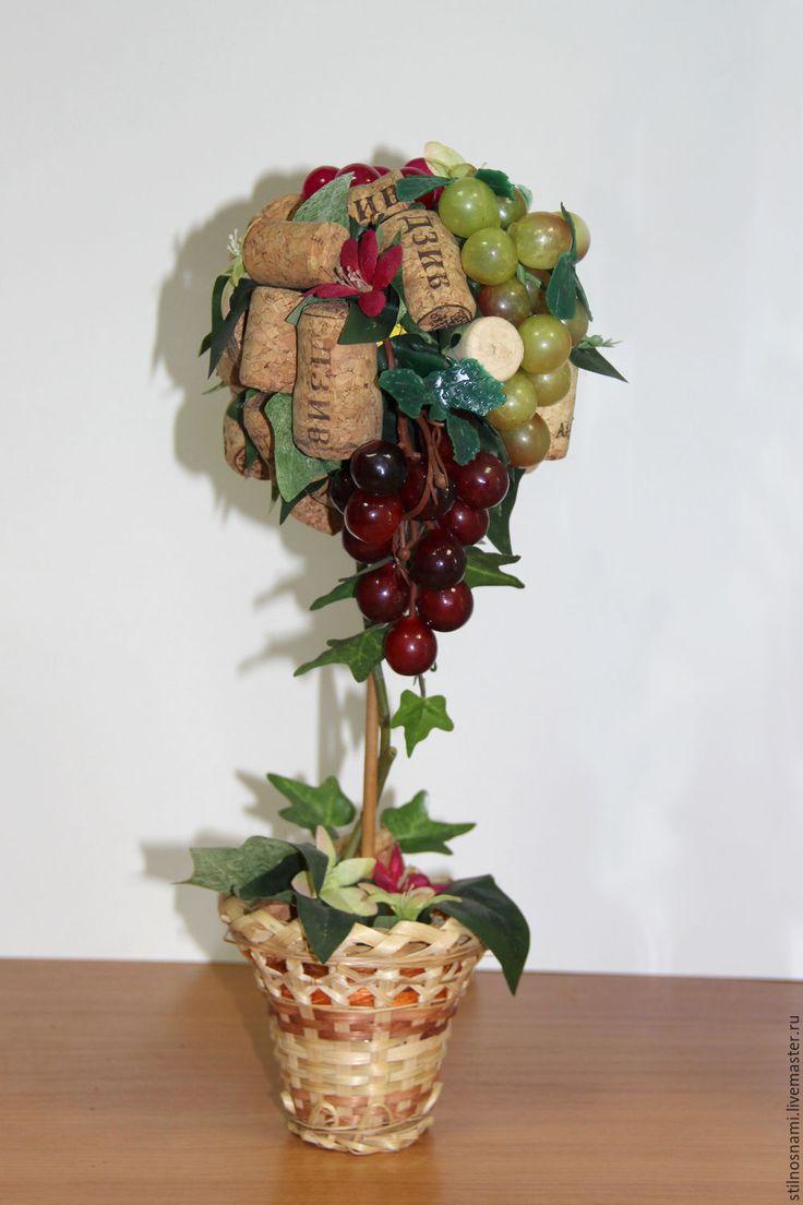 Купить Винное дерево - комбинированный, винное дерево, топиарий, пробка