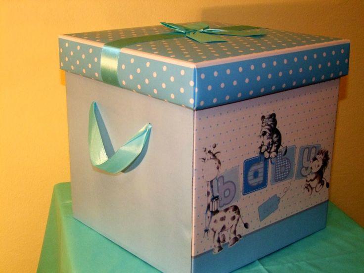 Cutie cașerată Botez - culoare albastra
