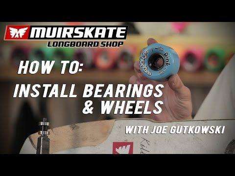 skateboard bearings install. video: how to: install bearings and wheels with joe gutkowski | muirskate longboard shop skateboard