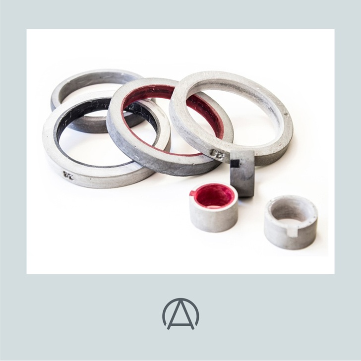 CONCRETE & RESIN JEWELLERY: Available at www.africandy.com    We think 20 EIGHT's collection of handmade cast lightweight concrete and resin bangles and rings are just marvellous.    Available in various sizes and colour options. The forms are bold, dynamic and rigorously contemporary, whilst pushing the material to its limits.    The company continually experiments with readily available materials in an innovative manner to ensure products of authenticity that push the boundaries of design.