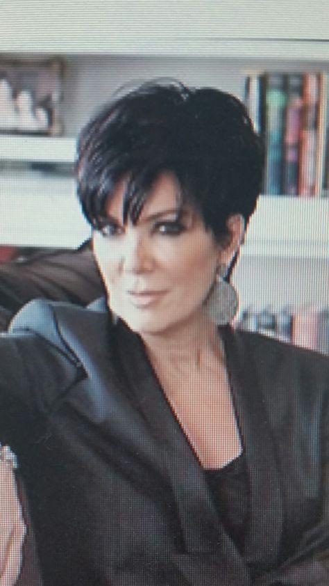 Kris Kardashian Back Of Haircu Corte De Pelo Pinterest