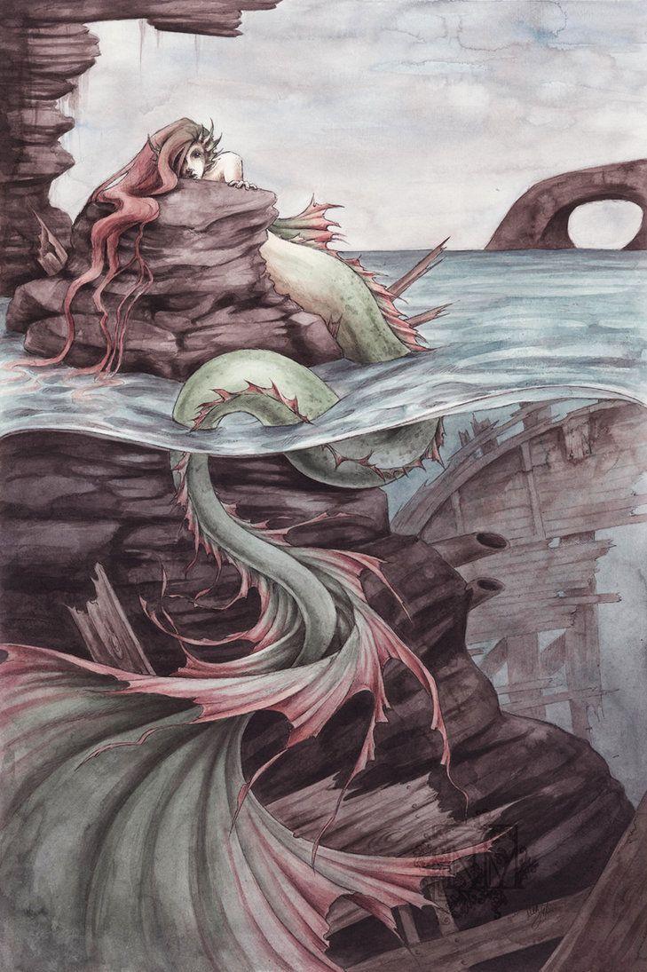 Mermaid By Captainnutmeg Mermaid Tails Mermaid Tail Drawing