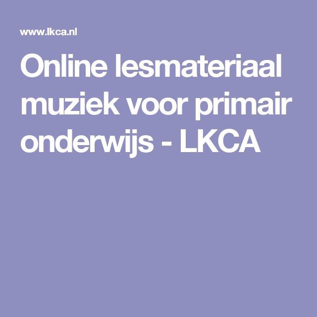 Online lesmateriaal muziek voor primair onderwijs - LKCA