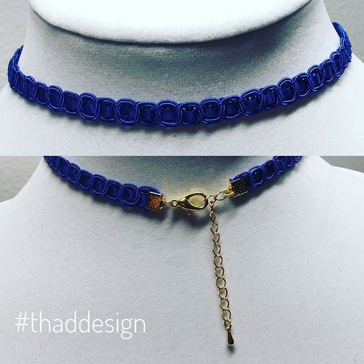 Blue choker necklace Prussian Blue by THAD.  #choker #blue #thinchoker #thaddesign
