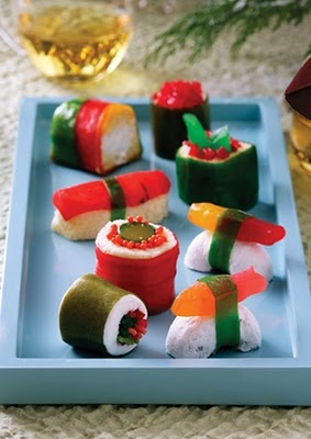 Wish I could understand the post! I Love sushi and candy....and this is sushi candy.