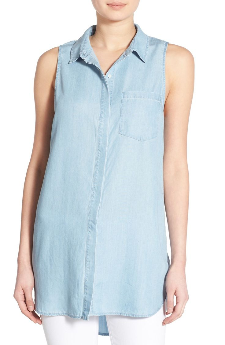 Hinge Wash Sleeveless Chambray Tunic available at #Nordstrom