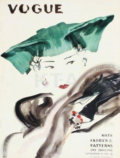 Vintage Vogue Covers, Sept 1935 #VintageVogueCoversKisyovaLazarinova